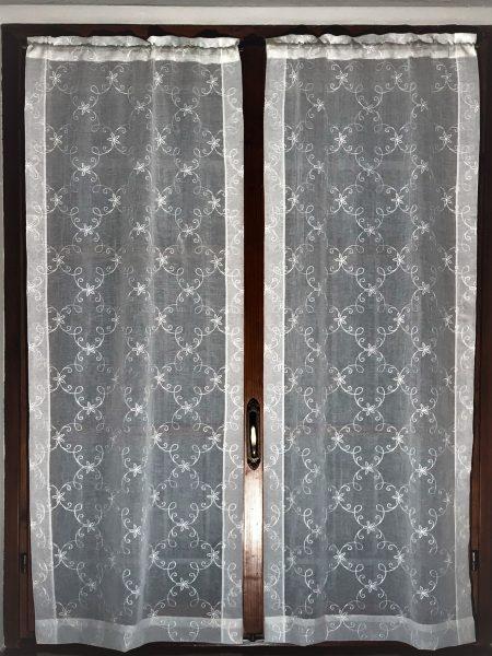 tende ricamate classiche base voile stropicciato stroppy