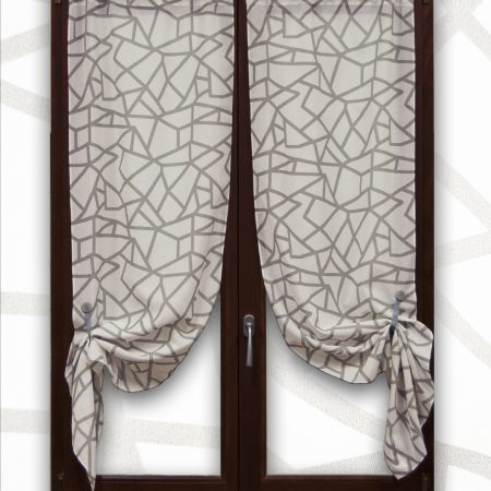 tenda londra grigio con motivi geometrici