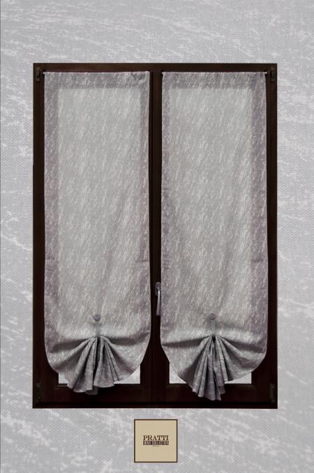samos grigio tenda in misto lino con fantasia astratta