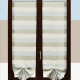 tenda a righe orizzontali grigio e azzurro