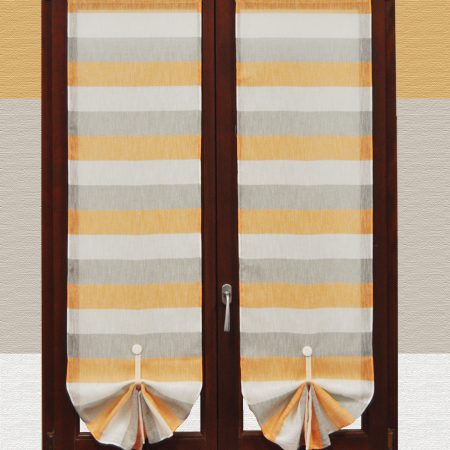 tenda a righe orizzontali arancioni